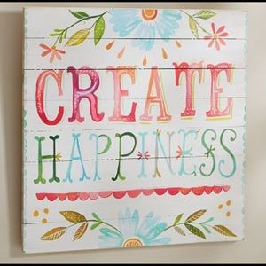 PB Teen - Wall Art - Create Happiness- Rustic
